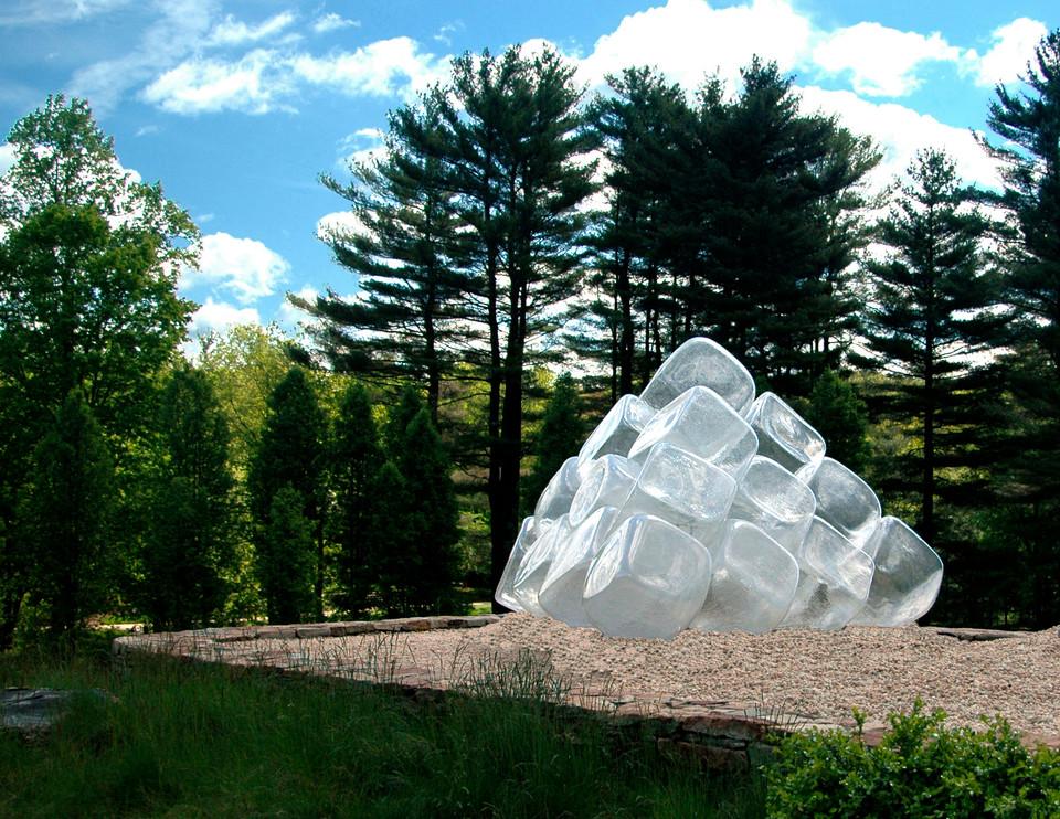 Ice Cube Pyramid