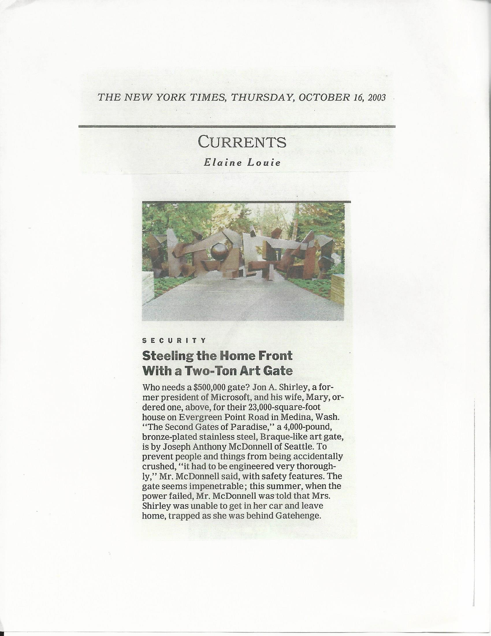 NY Times 2003