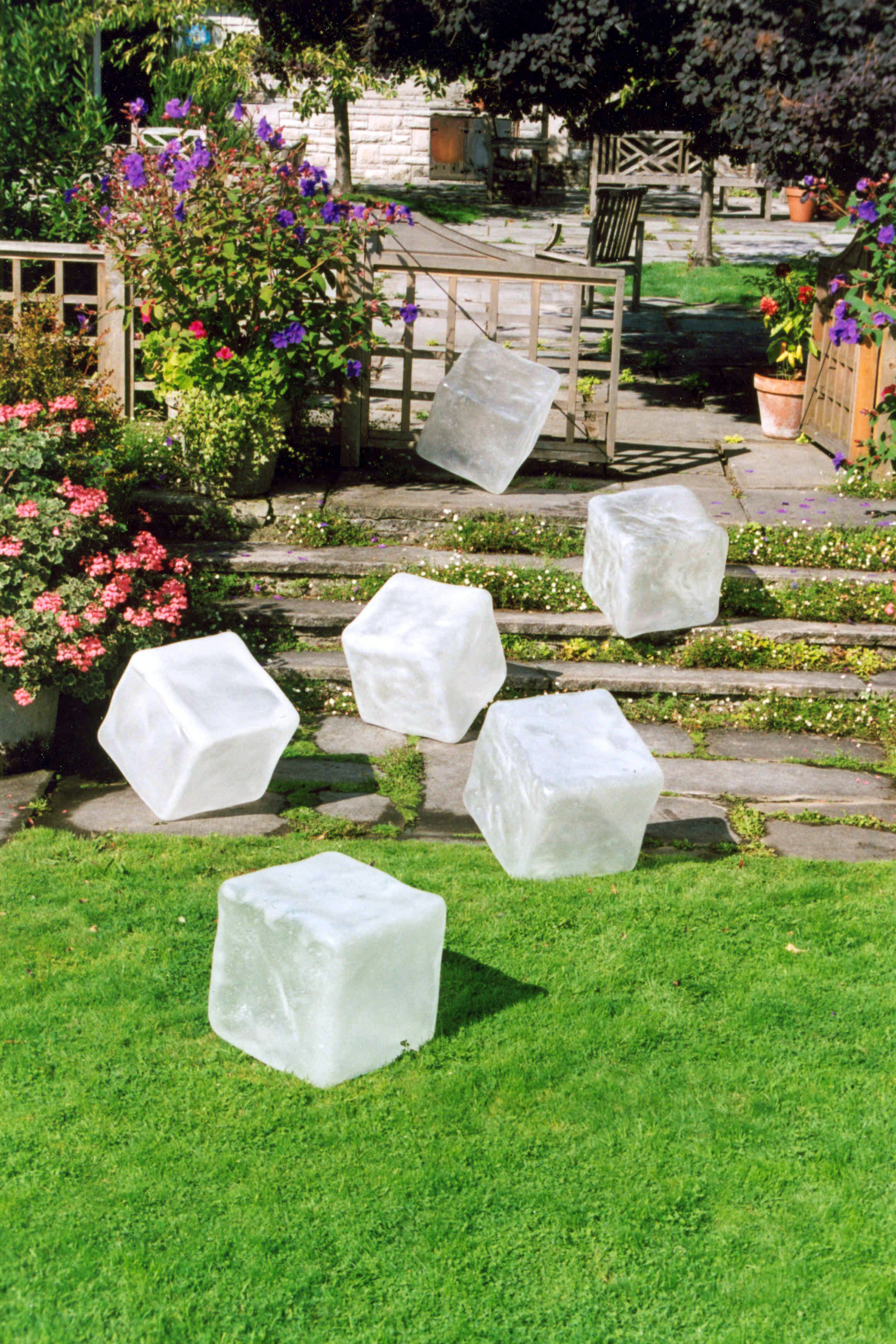 Resin Ice Cubes ~ on lawn