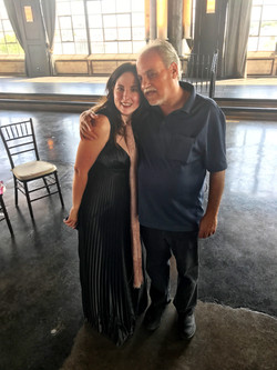 Jacquelyn Aluotto with her Dad.