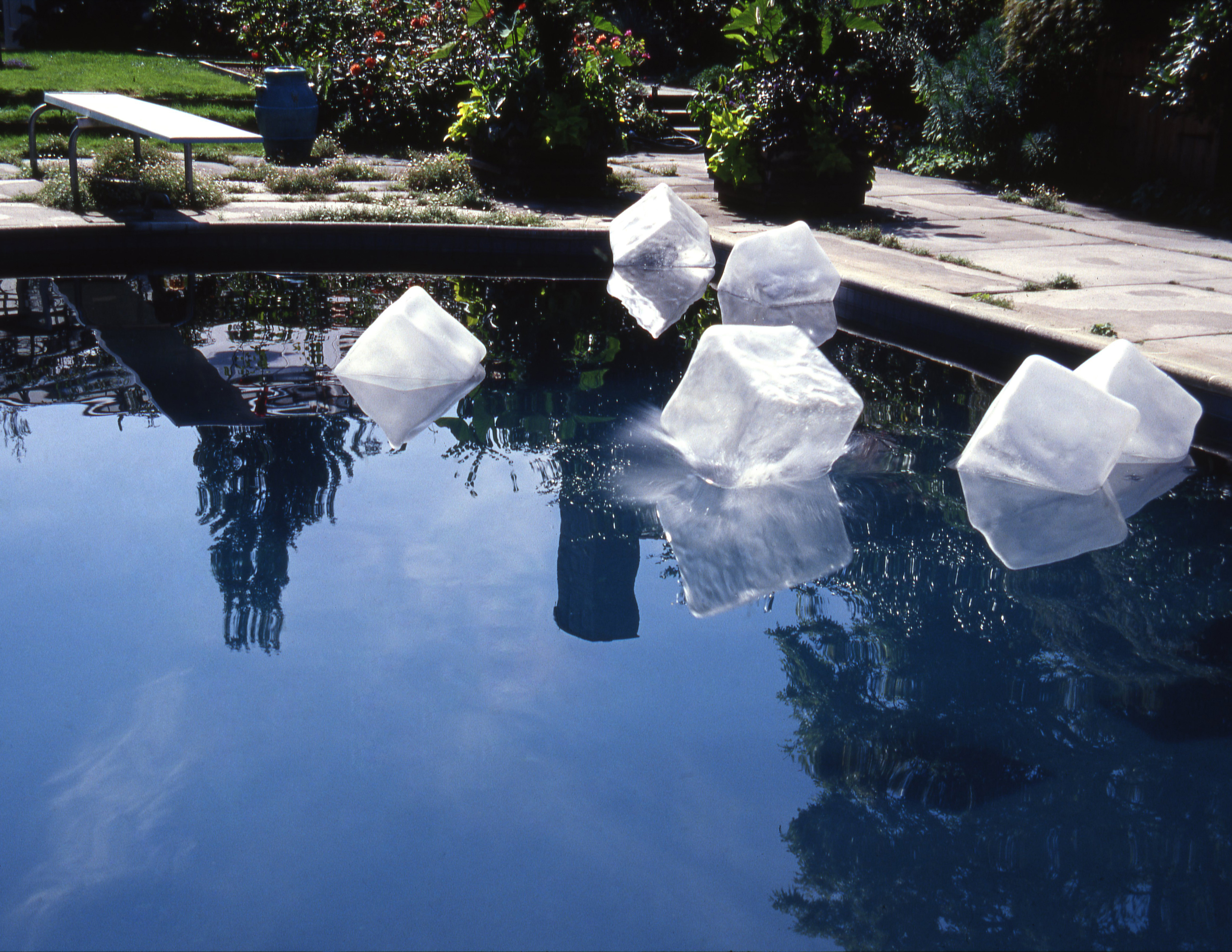 Ice Cubes in the pool