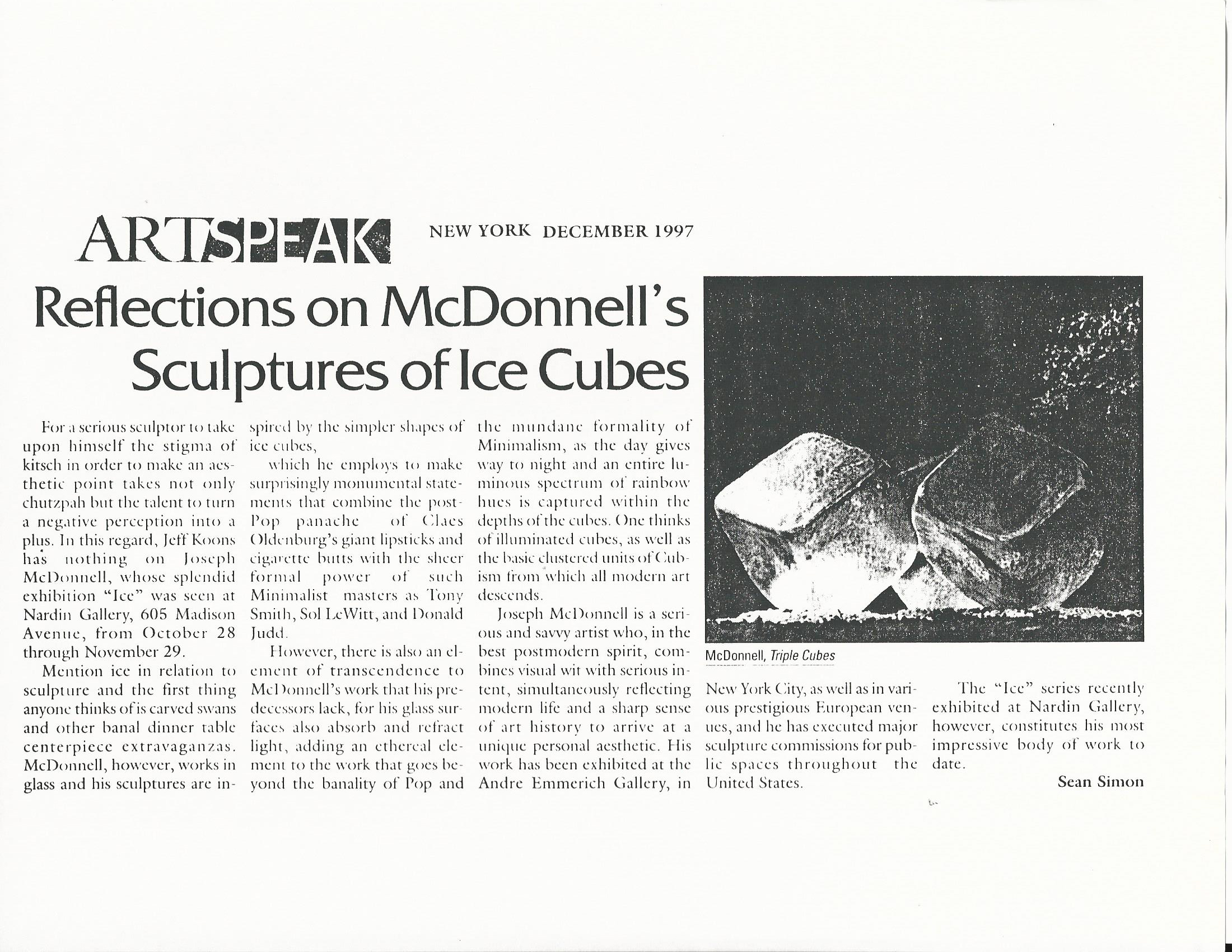 New York press Artspeak 1997