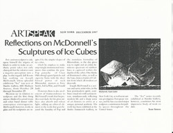 New York press Artspeak 1997