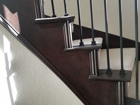 Refinished wood stairs