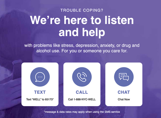NYC Well - FREE Mental Health Support 24/7
