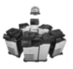 cluster of lexmark printers