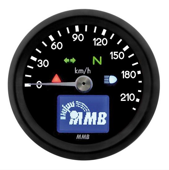 ELECTRONIC 48MM SPEEDO BASIC, 220 KM/H