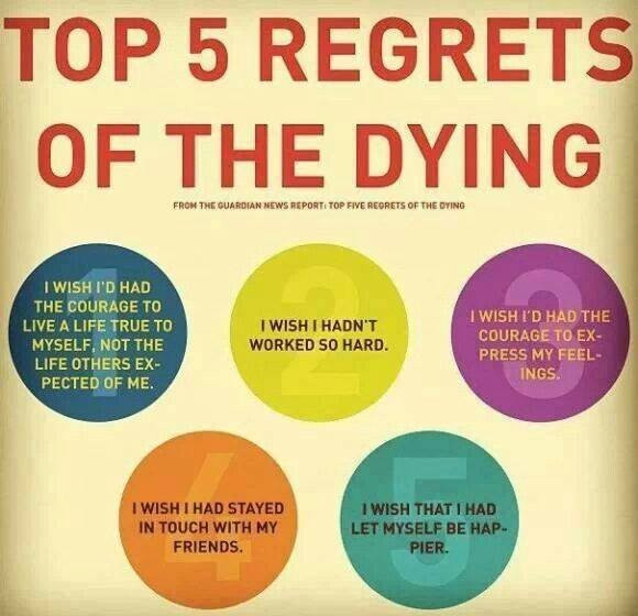 Five regrets of the dying - Part 1: I wish I'd let myself be happier