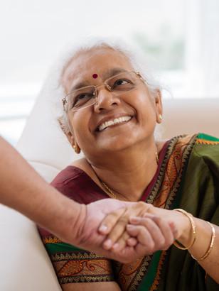 Elderly Asian Lady Smiling