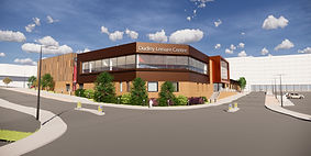 Artist impression of new Dudley Leisure Centre