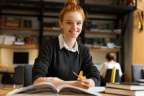Girls studying at University