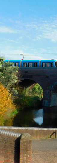 Parkhead Viaduct with Tram