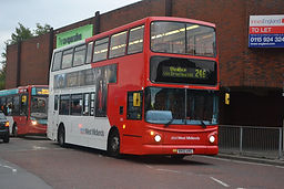 Double Decker bus outside Dudly Bus Station