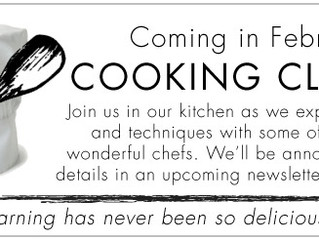Nashville Cooking Classes coming in February 2018!