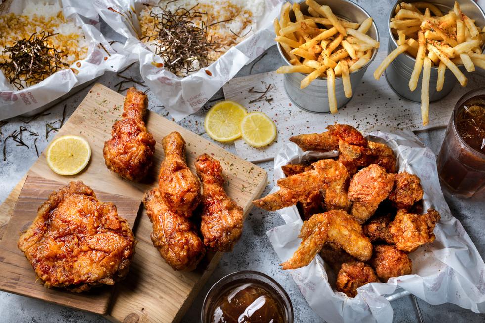 Fried chicken feast