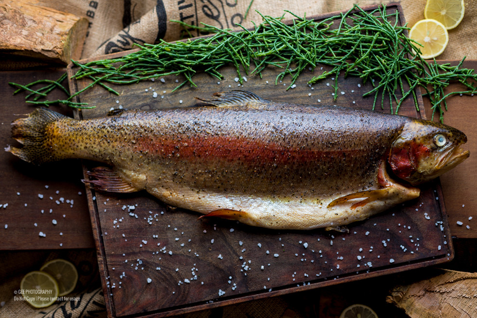 Smoked salmon food photography by Gee Photography