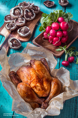Roast chicken food photography by Gee Photography