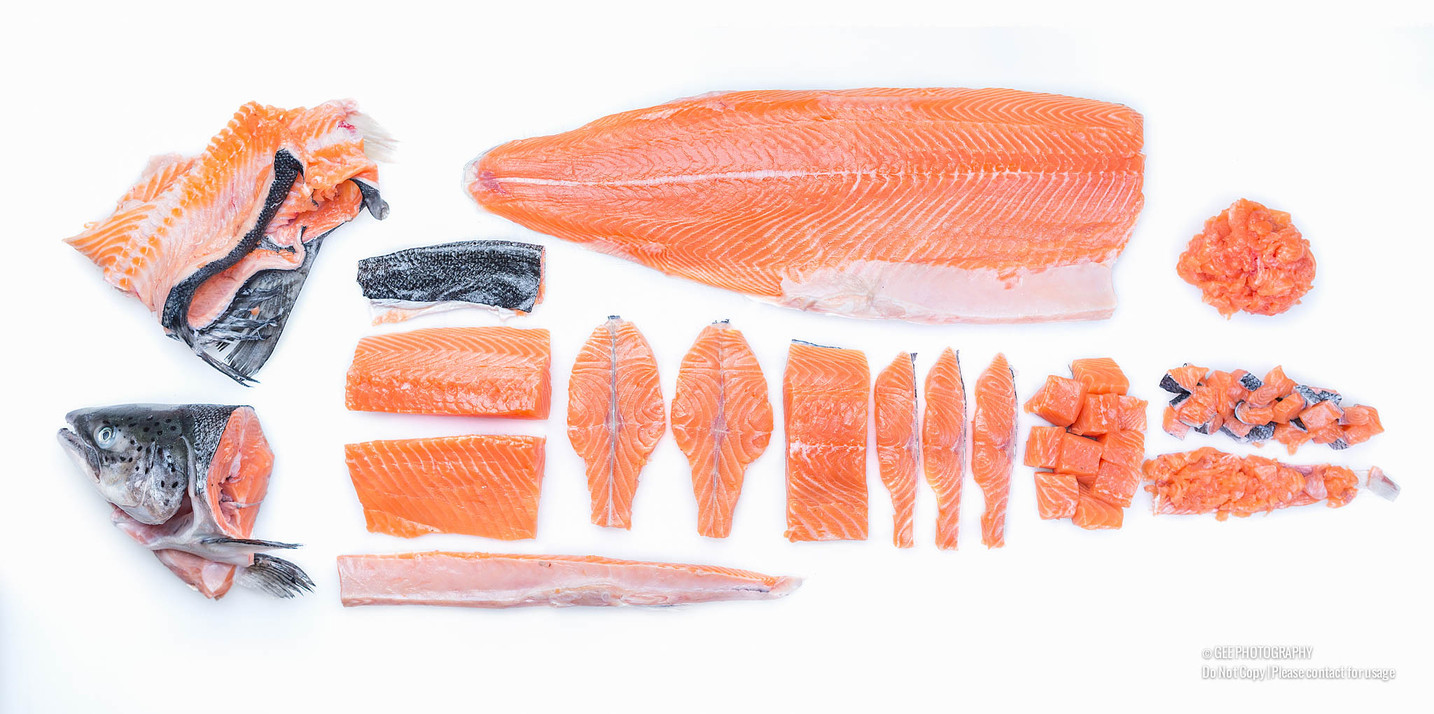 Dissected salmon picture - food photography by Gee Photography