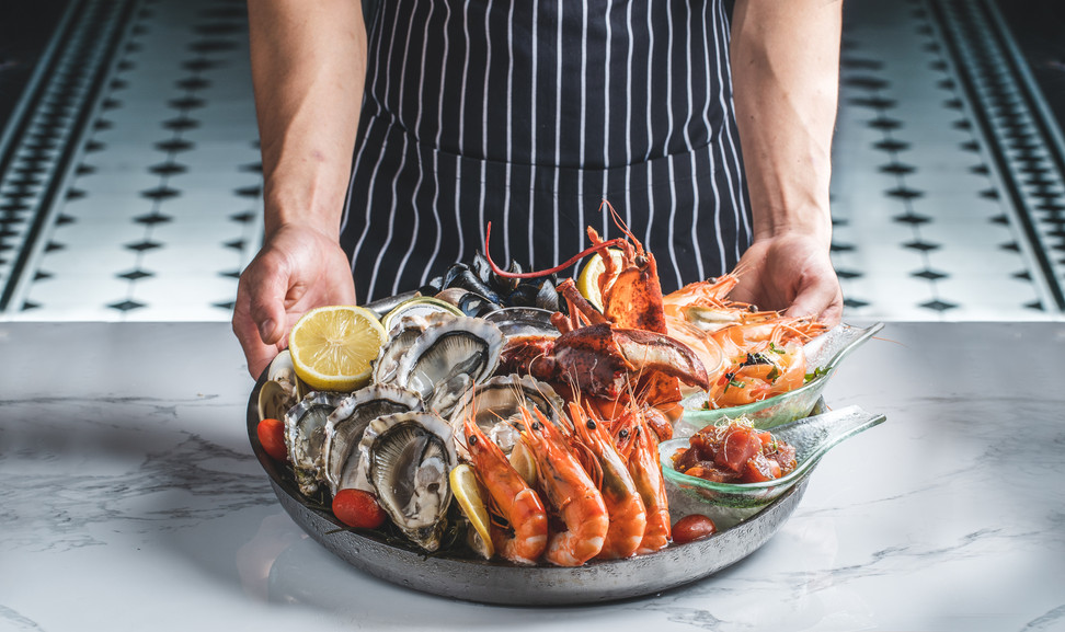 Cold seafood platter food photography by Gee Photography