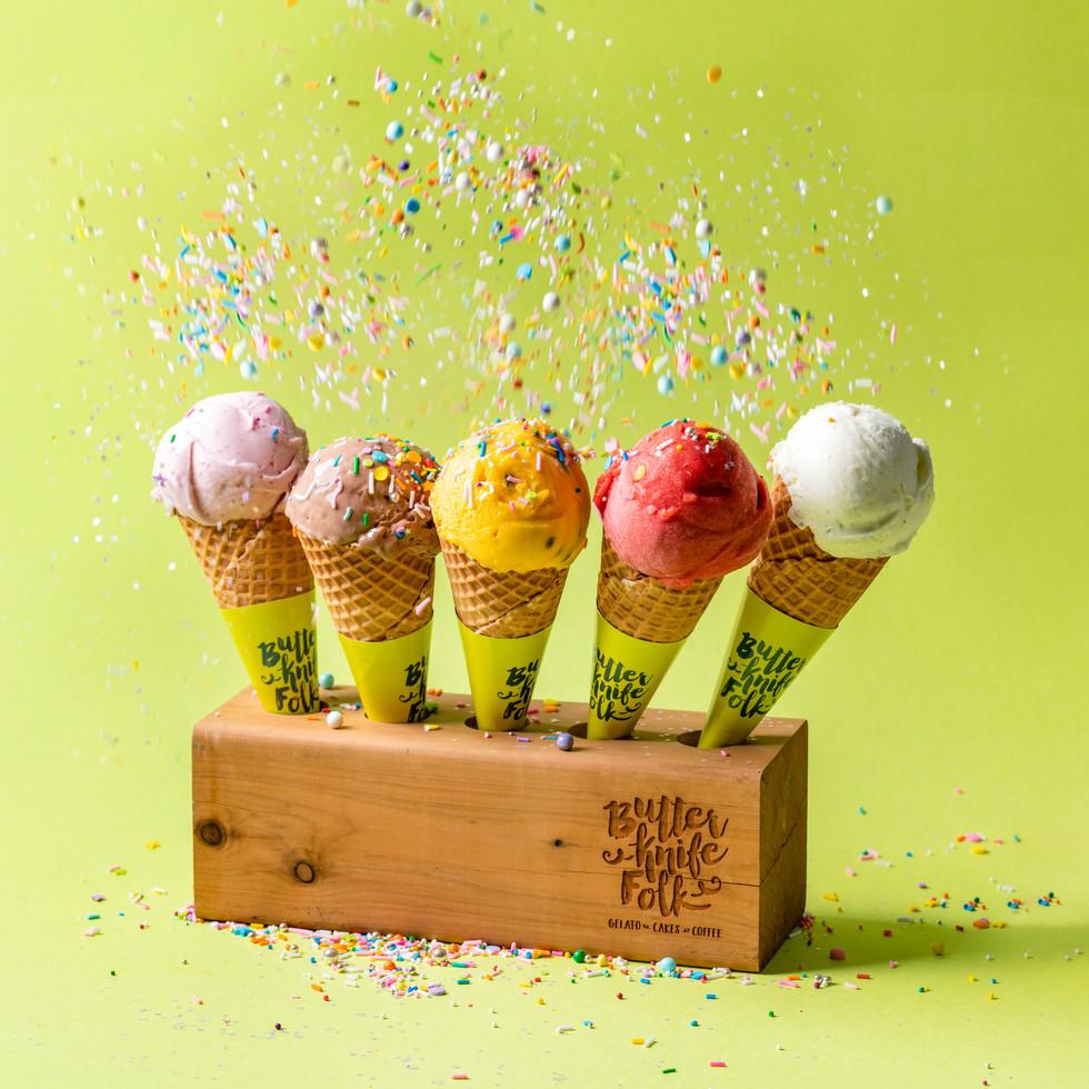 A happy photo of gelato