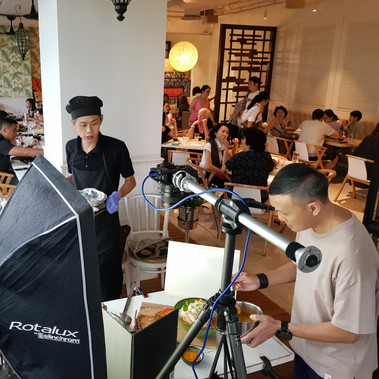 Behind the scene - food photography