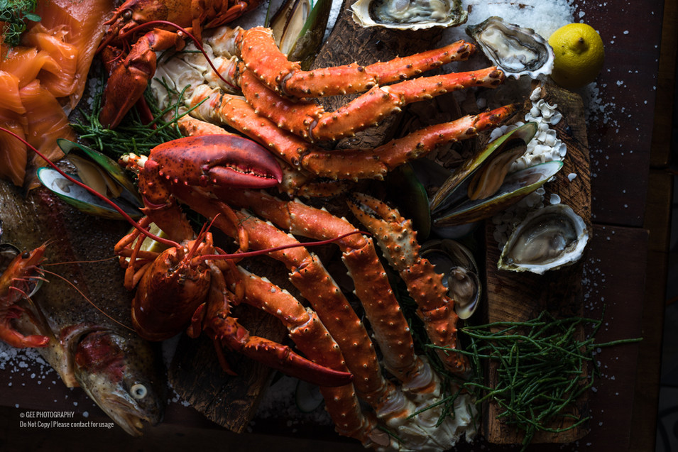 King crab food photography by Gee Photography