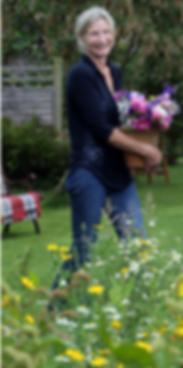 Gathering homegrown british garden flowers