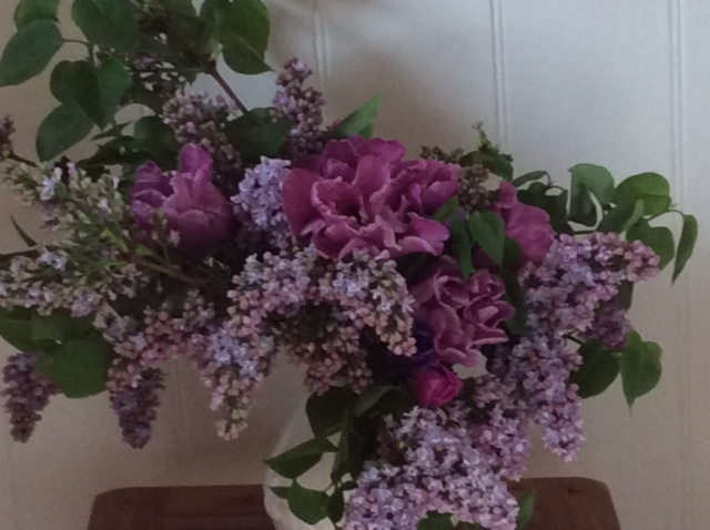 Scented lilac arrangement