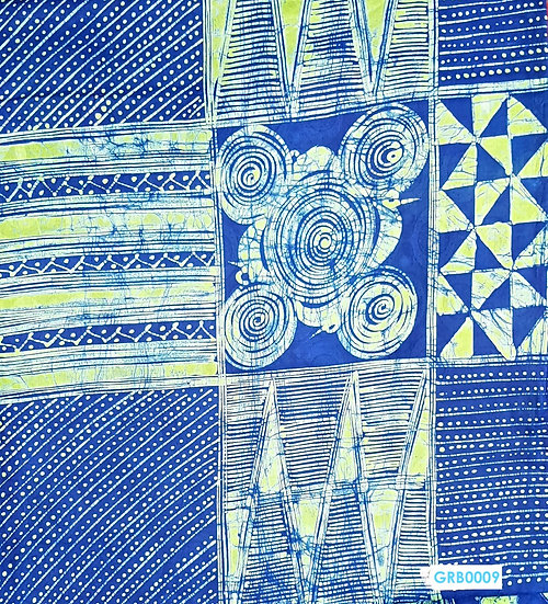 Adire Batik on Cotton (Blue-Green)