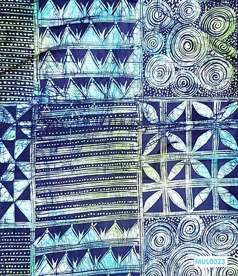 Adire Batik on Cotton (Multicoloured)