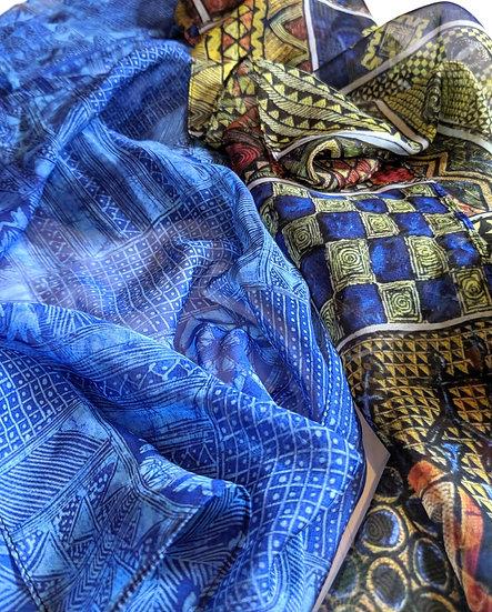 Adire Pattern Scarves