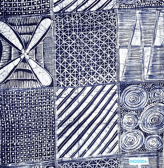 Adire Batik on Cotton (Indigo 5)