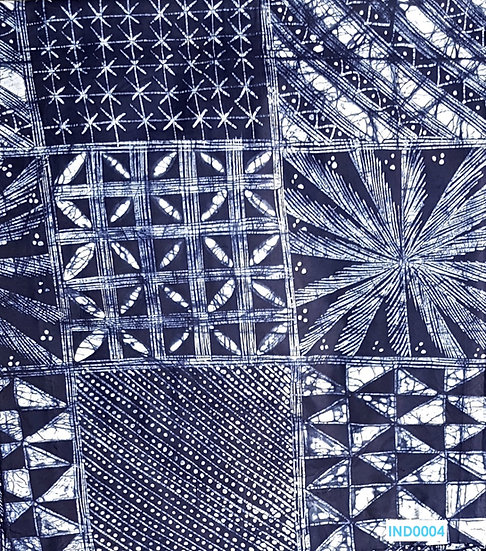Adire Batik on Cotton (Indigo 3)