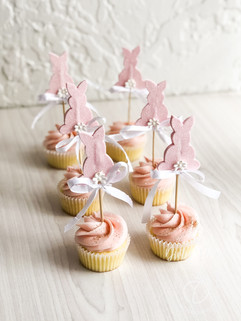 Bunny themed cupcakes- first birhtday cupcakes
