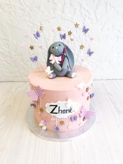 Buttercream bunny cake- First birthday cake