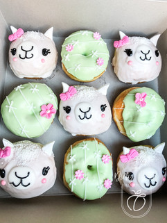 Lama themed doughnuts