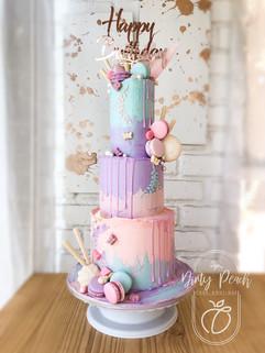 3 Tier buttercream cake- pastel colour cake- fairytale cake