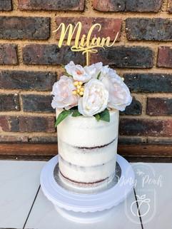 Naked cake- christening cake