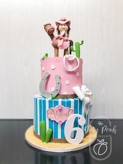 Horse themed birhtday cake