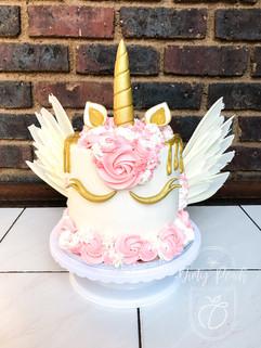 Unicorn with chocolate wing cake