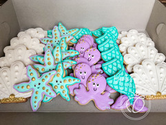 Under the sea themed royal iced biscuits- party favours