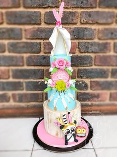 Bohemian themed birthday cake