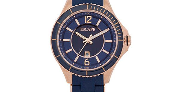 Sierra Three Hand Date Silicone Watch | Blue