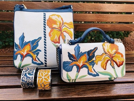 The Iris Bloom collection is the perfect pop of color for your summer wardrobe!
