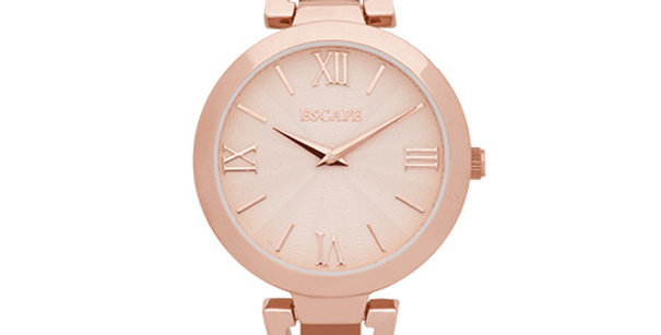 Two Hand Stainless Steel Watch | Pink