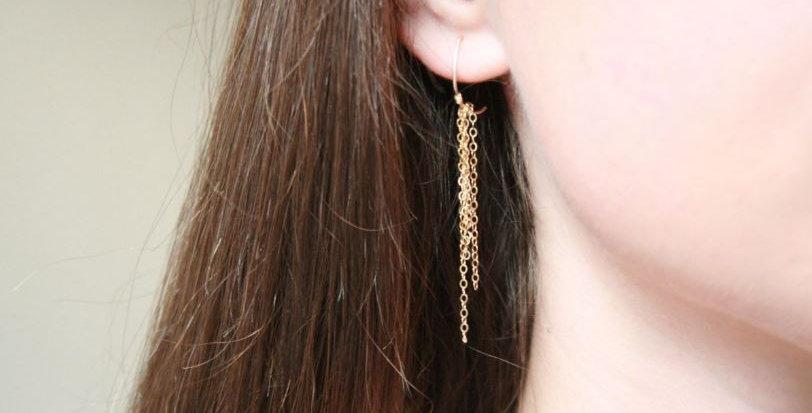Liten Hapsut Gold Earring