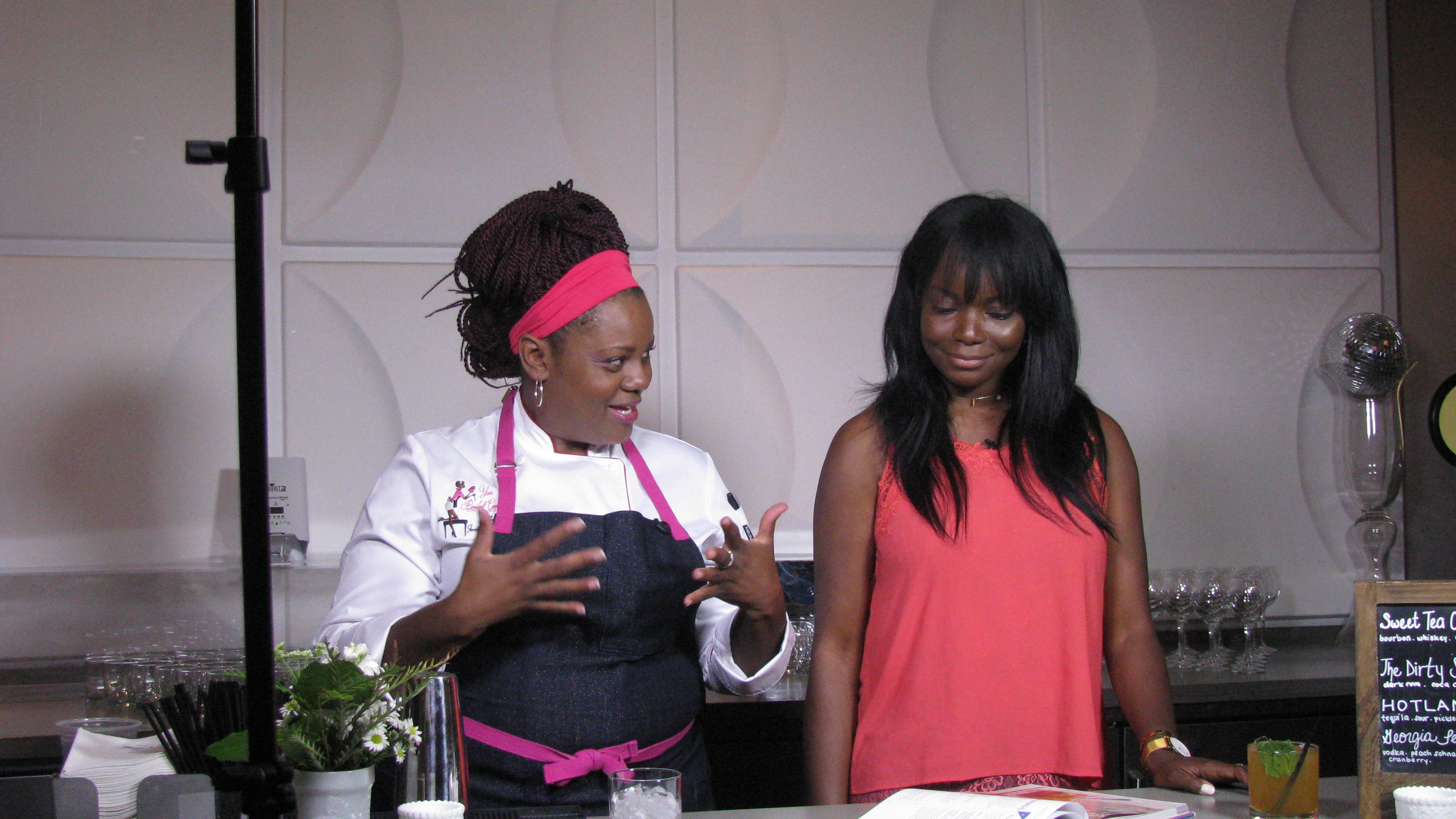 Chef Jennifer & Coco Bassey Making Sweet Tea Cocktails