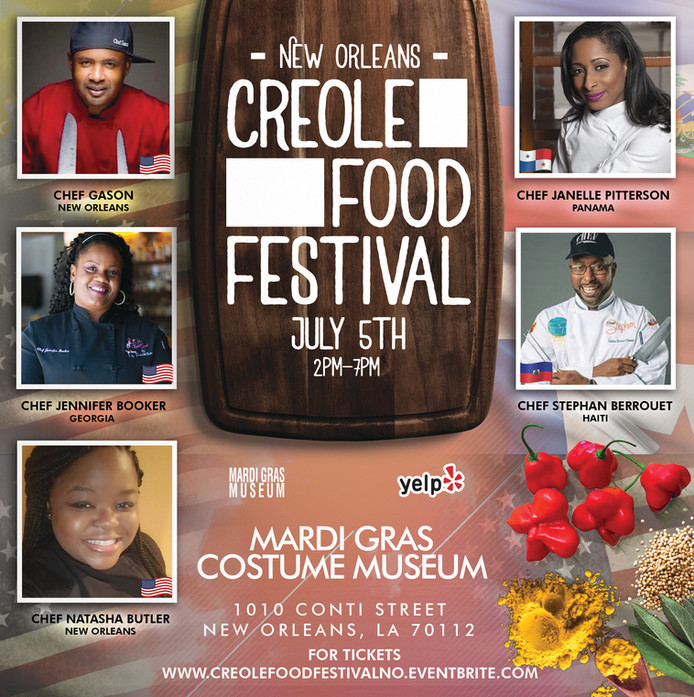 2nd Annual Creole Food Festival welcomes Chef Jennifer Hill Booker to New Orleans!