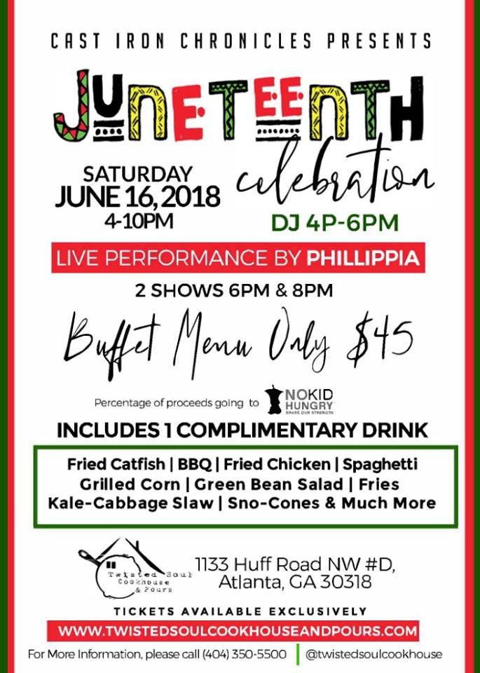 Celebrate Juneteenth with Cast Iron Chronicles! Saturday, June 16th