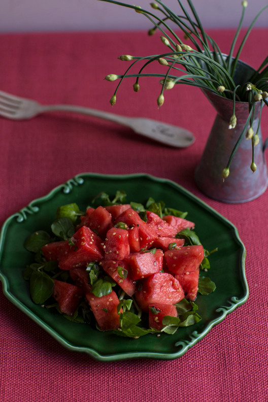 Celebrate Your 4th of July with this Refreshing Watermelon Salad!
